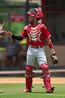 Philadelphia Phillies catcher Arturo De Freitas (3) during an Extended Spring Training game against the New York Yankees on June 22, 2021 at the Carpenter Complex in Clearwater, Florida. (Mike Janes/Four Seam Images)
