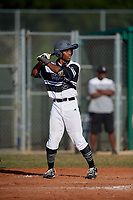 JuJu Stevens (29) during the WWBA World Championship at Terry Park on October 11, 2020 in Fort Myers, Florida.  JuJu Stevens, a resident of Woodbridge, Connecticut who attends Amity High School, is committed to Missouri.  (Mike Janes/Four Seam Images)