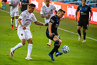 SAN JOSE, CA - SEPTEMBER 13: Tommy Thompson #22 of the San Jose Earthquakes during a game between Los Angeles Galaxy and San Jose Earthquakes at Earthquakes Stadium on September 13, 2020 in San Jose, California.