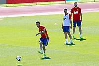 Spain's Sergio Busquets, Cesar Azpilicueta and Gerard Pique during training session. June 5,2017.(ALTERPHOTOS/Acero)