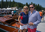 Shaun and Mark during the Concours d'Elegance Wood Boat Show at Lake Tahoe on Friday, August 10, 2018.