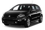 2014 Fiat PUNTO SPORTLINE 5 Door Hatchback 2WD Angular Front stock photos of front three quarter view