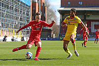 Dan Kemp of Leyton Orient and Max Melbourne of Walsall during Leyton Orient vs Walsall, Sky Bet EFL League 2 Football at The Breyer Group Stadium on 5th April 2021