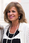 20.09.2012. Queen Sofia of Spain, accompanied by the mayor of Madrid Ana Botella,  the Minister of Health, Social Services and Equality Ana Mato and the Foundation ONCE president, Miguel Carballeda, attend the inauguration of the IV Biennial of Contemporary Art Foundation ONCE, in the Conde Duque Cultural Centre in Madrid. In the image Ana Botella (Alterphotos/Marta Gonzalez)