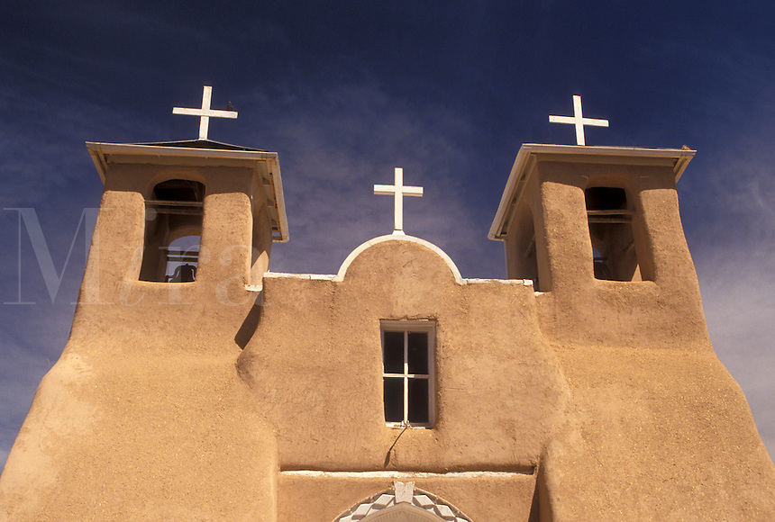 church, San Francisco De Asis, Taos, mission, NM, New Mexico, San Francisco De Asis a mission church that exemplifies Franciscan Old World architecture in Taos.