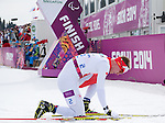 Sochi, RUSSIA - Mar 8 2014 -  Mark Arendz wins the Silver medal in the 7.5km standing biathlon at 2014 Paralympic Winter Games in Sochi, Russia.  (Photo: Matthew Murnaghan/Canadian Paralympic Committee)
