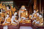Buddha's, Shwedagon Pagoda