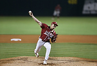 Arkansas Kevin Kopps (45) pitches, Saturday, June 5, 2021 during the sixth inning in the second game of the NCAA Fayetteville Regional at Baum-Walker Stadium in Fayetteville. Check out nwaonline.com/210606Daily/ for today's photo gallery. <br /> (NWA Democrat-Gazette/Charlie Kaijo)