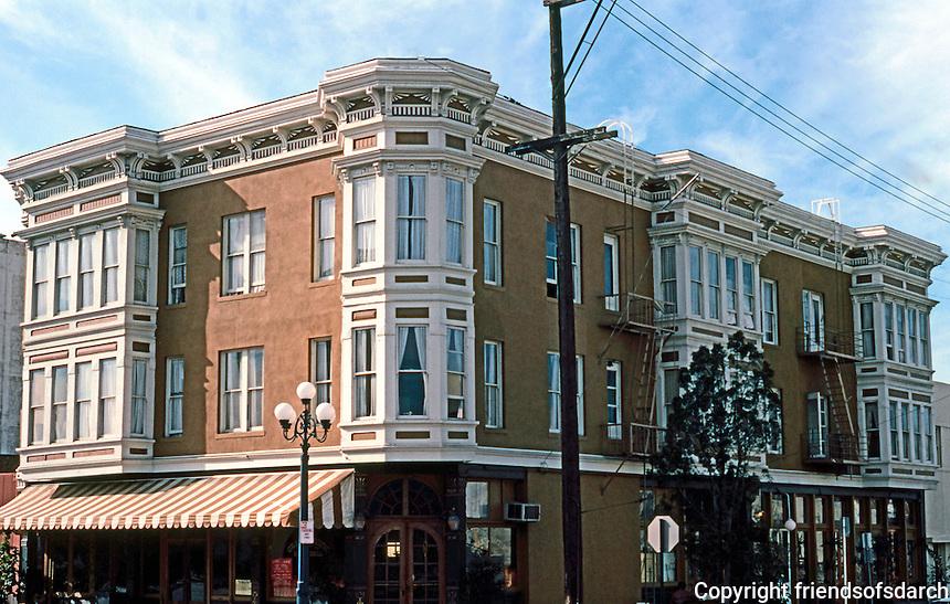 San Diego: Grand  (Avenue) Pacific Hotel, 366 5th Avenue, Gaslamp District. Photo '81.