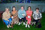 Supporting the Kerry Hospice Coffee evening in the Banna Beach Hotel on Thursday, l to r: Evonne O'Sullivan (Ardfert), Martina Clifford (Abbeydorney), Rosie Silles (Ardfert), Therese Carroll (Tralee) and Margaret McGrath (Banna).