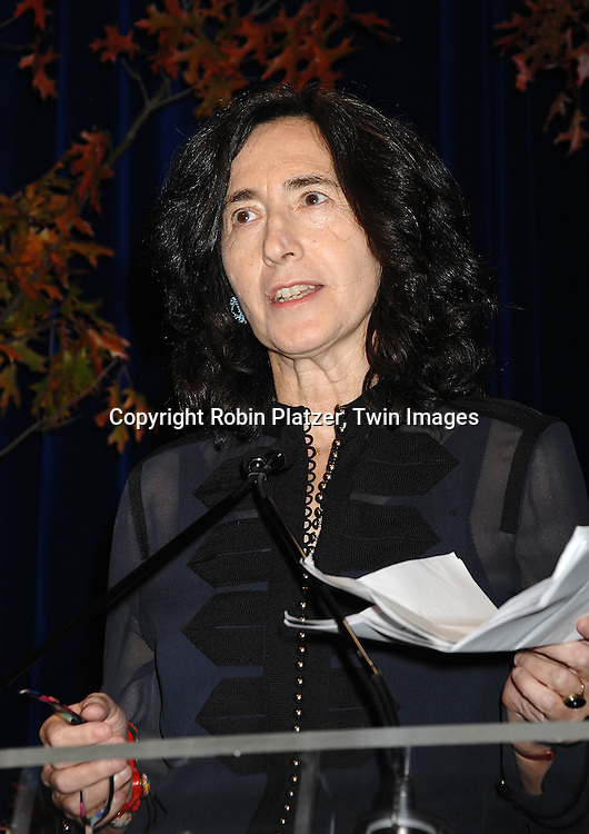 Francine Prose, judge..at The National Book Awards on November 14, 2007 at ..the Marriott Marquis Hotel in New York, The event was hosted by Fran Lebowitz...Robin Platzer, Twin Images......