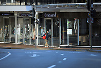 Victoria Street, Wellington CBD, at 8.30am, Wednesday during Level 4 lockdown for the COVID-19 pandemic in Wellington, New Zealand on Thursday, 19 August 2021.
