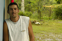 A local organizer on environmental issues in Sevegre, Costa Rica.