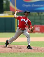 Lisander Brito participates in the MLB International Showcase at Estadio Quisqeya on February 22-23, 2017 in Santo Domingo, Dominican Republic.