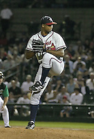 July 17, 2004:  Pitcher Roman Colon of the Richmond Braves, Triple-A International League affiliate of the Atlanta Braves, during a game at Frontier Field in Rochester, NY.  Photo by:  Mike Janes/Four Seam Images