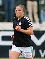 Sara Yuceil (13) of OHL pictured during the warm up before  a female soccer game between Oud Heverlee Leuven and AA Gent Ladies on the 9 th matchday of play off 1 in the 2020 - 2021 season of Belgian Womens Super League , saturday 22 nd of May 2021  in Heverlee , Belgium . PHOTO SPORTPIX.BE | SPP | SEVIL OKTEM