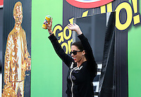 Aug 17, 2014; Brainerd, MN, USA; NHRA funny car driver Alexis DeJoria during the Lucas Oil Nationals at Brainerd International Raceway. Mandatory Credit: Mark J. Rebilas-
