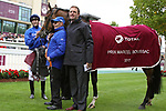 October 01, 2017, Chantilly, FRANCE -  Wild Illusion with James Doyle with up after winning the Total Prix Marcel Boussac (Gr. I) at  Chantilly Race Course  [Copyright (c) Sandra Scherning/Eclipse Sportswire)]