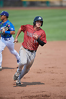 Reed Rohlman (19) of the Idaho Falls Chukars hustles towards third base against the Ogden Raptors at Lindquist Field on July 29, 2018 in Ogden, Utah. The Raptors defeated the Chukars 20-19. (Stephen Smith/Four Seam Images)