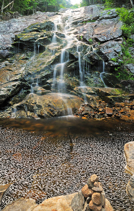 The last and lowest of several drops at Nancy Cascades, this is a wonderful New Hampshire Waterfall. It's found just inside the Nancy Ponds Natural Research Area along the Nancy Pond Trail.