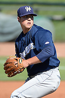 Helena Brewers starting pitcher Taylor Williams (25) delivers a pitch to the plate against the Ogden Raptors at Lindquist Field on July 21, 2013 in Ogden Utah. (Stephen Smith/Four Seam Images)