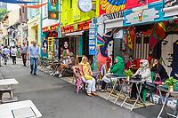 Singaporean Women, Haji Lane, Kampong Glam, Singapore.