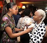 Condola Rashad with Cynthia Erivo and Caleb attends the Sardi's portrait unveiling for Condola Rashad at Sardi's Restaurant on May 10, 2018 in New York City.