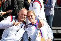 15-09-12, Netherlands, Amsterdam, Tennis, Daviscup Netherlands-Suisse, Maikel Scheffers en Esther Vergeer