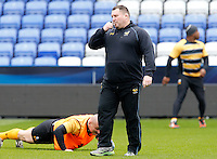 Photo: Richard Lane/Richard Lane Photography. Wasps Captains Run ahead of their game against Saracens in the European Champions Cup Semi Final at the Madejski Stadium. 22/04/2016. Director of Rugby, Dai Young.