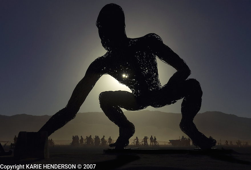 Mumbato, part of Crude Awakening, an art piece by Karen Cusolito, Dan Das Mann and Mark Perez for the 2007 Burning Man annual event held in Black Rock Desert, Nevada. Photo by, Karie Henderson © 2007