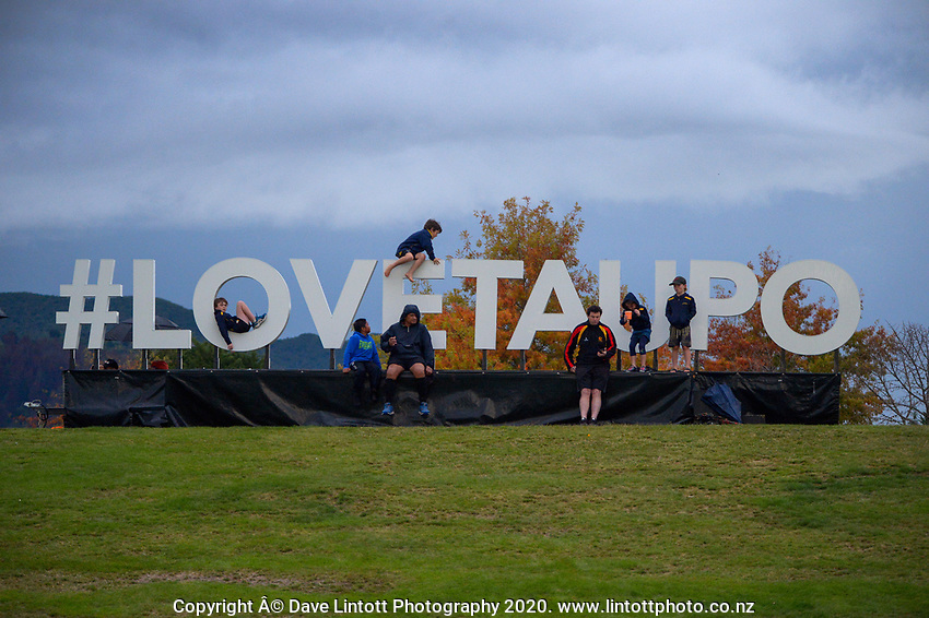 Fans watch the 2021 Bunnings Super Rugby Aotearoa Under-20 rugby match between the Chiefs and Crusaders at Owen Delaney Park in Taupo, New Zealand on Tuesday, 14 April 2021. Photo: Dave Lintott / lintottphoto.co.nz