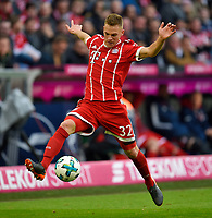 10.03.2018,  Football 1.Liga 2017/2018, 26. match day,  FC Bayern Muenchen - Hamburger SV, in Allianz Arena Muenchen. Joshua Kimmich (FC Bayern Muenchen) . *** Local Caption *** +++ NED out !!! +++<br /> Contact: +49-40-22 63 02 60 , info@pixathlon.de