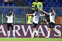 Duvan Zapata of Atalanta BC celebrates after scoring the goal of 0-1 for his side<br /> Roma 25-9-2019 Stadio Olimpico <br /> Football Serie A 2019/2020 <br /> AS Roma - Atalanta Bergamasca Calcio <br /> Foto Andrea Staccioli / Insidefoto