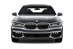 Car photography straight front view of a 2017 BMW 7 Series 750i M Sport 4 Door Sedan Front View