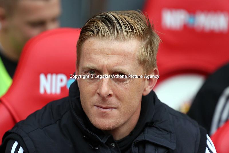 Pictured: Swansea manager Garry Monk. Sunday 11 May 2014<br /> Re: Barclay's Premier League, Sunderland v Swansea City FC at the Stadium of Light, Sunderland, UK.