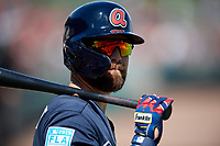 Atlanta Braves center fielder Ender Inciarte (11) before a Grapefruit League Spring Training game against the Detroit Tigers on March 2, 2019 at Publix Field at Joker Marchant Stadium in Lakeland, Florida.  Tigers defeated the Braves 7-4.  (Mike Janes/Four Seam Images)