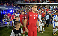 Orlando, FL - Friday Oct. 06, 2017: Matt Besler during a 2018 FIFA World Cup Qualifier between the men's national teams of the United States (USA) and Panama (PAN) at Orlando City Stadium.