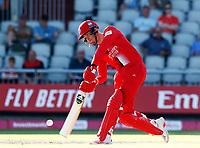 17th July 2021; Emirates Old Trafford, Manchester, Lancashire, England; T20 Vitality Blast Cricket, Lancashire Lightning versus Yorkshire Vikings; Finn Allenof Lancashire Lightning