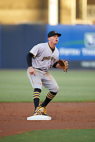 Bradenton Marauders second baseman Mitchell Tolman (5) during the second game of a doubleheader against the Tampa Yankees on April 13, 2017 at George M. Steinbrenner Field in Tampa, Florida.  Tampa defeated Bradenton 2-1.  (Mike Janes/Four Seam Images)