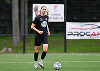Marie Bougard (10) of Woluwe pictured during a female soccer game between Sporting Charleroi and White Star Woluwe on the first matchday in the 2021 - 2022 season of Belgian Scooore Womens Super League , friday 20 August 2021 in Marcinelle , Belgium . PHOTO SPORTPIX | DAVID CATRY