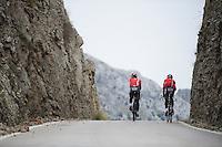 coming up from Sa Calobra<br /> <br /> <br /> Lotto-Belisol jan 2014 trainingcamp<br /> Mallorca