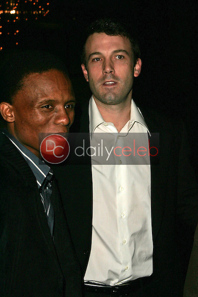 """Victor Mohale and Ben Affleck<br />at the Los Angeles Premiere of """"Ithuteng"""". Director's Guild of America, Los Angeles, CA. 11-15-06<br />Dave Edwards/DailyCeleb.com 818-249-4998"""