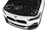 Car stock 2019 BMW X2 Standard 5 Door SUV engine high angle detail view