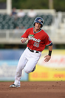 Fort Myers Miracle catcher Mitch Garver (25) runs the bases during a game against the Tampa Yankees on April 15, 2015 at Hammond Stadium in Fort Myers, Florida.  Tampa defeated Fort Myers 3-1 in eleven innings.  (Mike Janes/Four Seam Images)