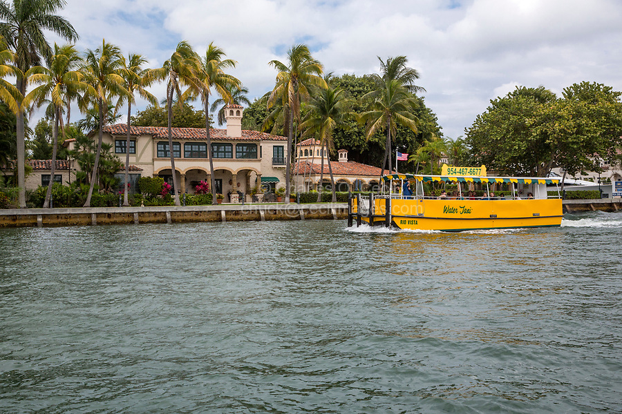 Ft. Lauderdale, Florida.  Water Taxi near Entrance to  the New River.