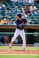 Montgomery Biscuits center fielder Nathan Lukes (2) at bat during a game against the Biloxi Shuckers on May 8, 2018 at Montgomery Riverwalk Stadium in Montgomery, Alabama.  Montgomery defeated Biloxi 10-5.  (Mike Janes/Four Seam Images)