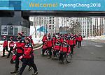Pyeongchang, Korea, 7mar2018- Team Canada Pep Rally, Flag Raising and branding in Athletes Village: Photo Scott Grant