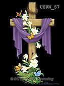Randy, EASTER RELIGIOUS, OSTERN RELIGIÖS, PASCUA RELIGIOSA, paintings+++++Draped-Cross-on-black,USRW57,#ER#
