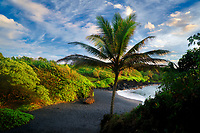 Black Sand Beach. Waianapanapa State Park, Maui, Hawaii.