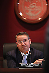 Gaming Control Board Chairman Mark Lipparelli listens to discussion in a meeting in Carson City, Nev., on Wednesday, Dec. 7, 2011. .Photo by Cathleen Allison